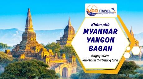 KHÁM PHÁ MYANMAR : YANGON - BAGAN – YANGON 4N3Đ