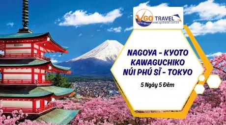 NAGOYA - KYOTO - KAWAGUCHIKO - NÚI PHÚ SĨ - TOKYO 5N5Đ