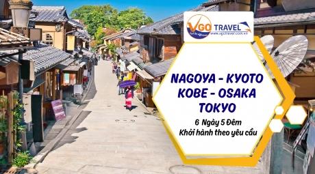 NAGOYA - KYOTO - KOBE - OSAKA - TOKYO 6N5Đ