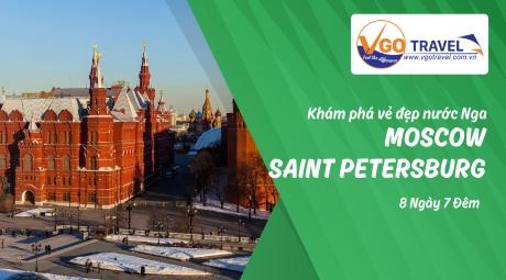 KHÁM PHÁ VẺ ĐẸP NƯỚC NGA - MATXCOVA (MOSCOW) - XANH PETECBUA (SAINT PETERSBURG) 8N7Đ