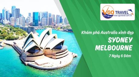 KHÁM PHÁ AUSTRALIA XINH ĐẸP  SYDNEY - MELBOURNE 7N6Đ