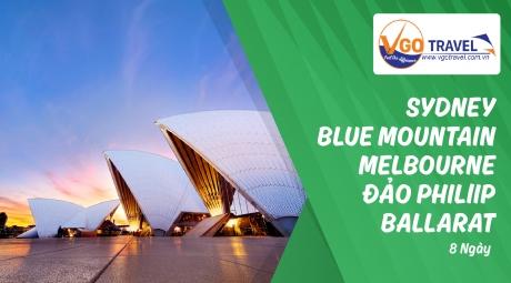 SYDNEY - BLUE MOUNTAIN - MELBOURNE - ĐẢO PHILLIP - BALLARAT 8 NGÀY