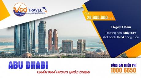 KHÁM PHÁ VƯƠNG QUỐC DUBAI - ABU DHABI 5N4Đ